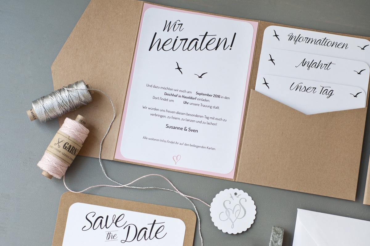 Einladung Hochzeit Diy  Unsere Hochzeitseinladungen – Serendipity