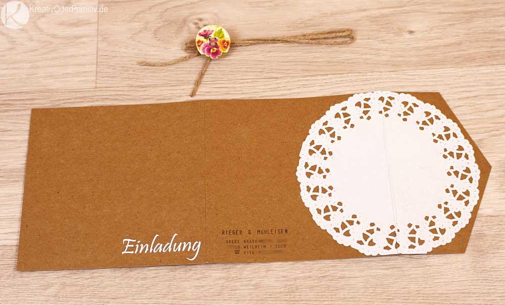 Einladung Hochzeit Diy  Kreativ oder Primitiv Einladungskarten zur Hochzeit