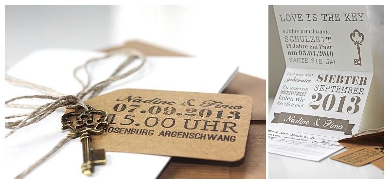 Einladung Hochzeit Diy  Nadine & Timo DIY Hochzeit in Rheinhessen Verrückt