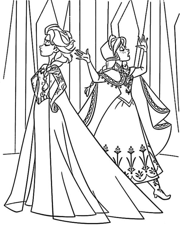Eiskönigin Elsa Ausmalbilder  Elsa malvorlagen kostenlos zum ausdrucken Ausmalbilder