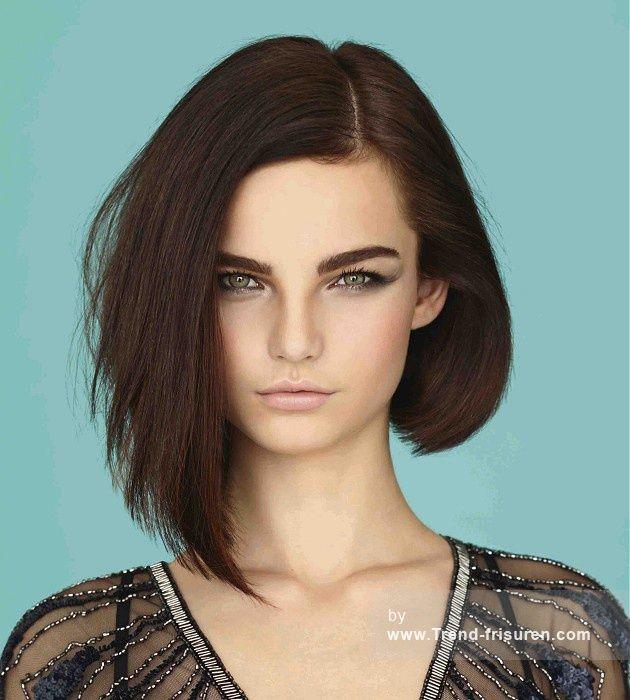 Elkes Haarschnitt  25 beste ideeën over Lange Asymmetrische Bob op Pinterest