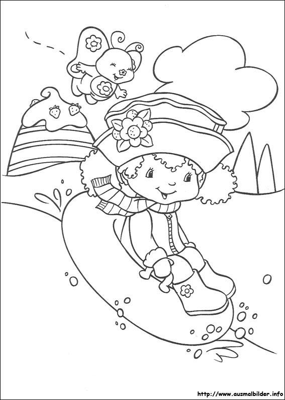 Emily Erdbeer Ausmalbilder  Emily Erdbeer malvorlagen