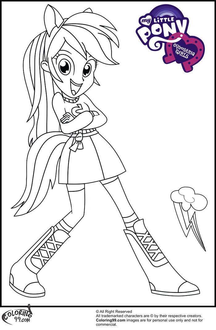 Equestria Girls Ausmalbilder  Fans Request Rainbow Dash Equestria Girl Coloring Pages