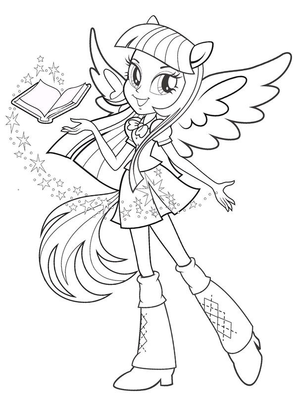 Equestria Girls Ausmalbilder  Equestria My Little Pony Coloring