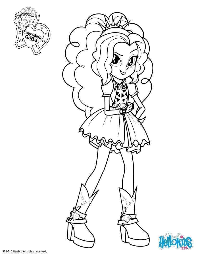 Equestria Girls Ausmalbilder  My Little Pony Equestria Girls Coloring Pages