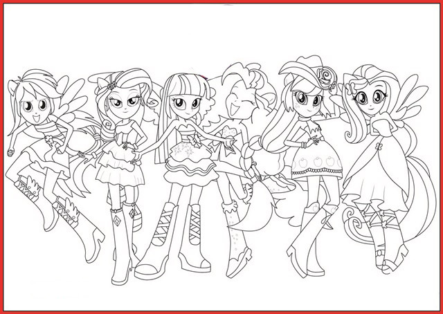 Equestria Girls Ausmalbilder  My Little Pony Equestria Girl Ausmalbilder Rooms Project