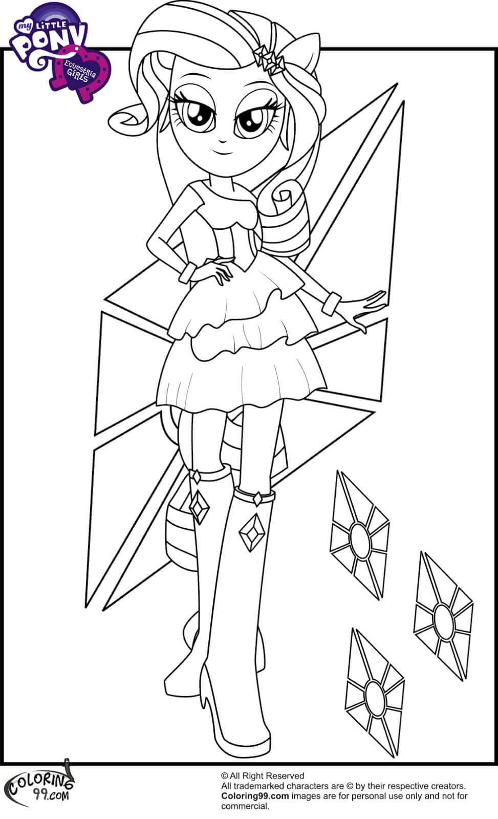 Equestria Girls Ausmalbilder  15 Printable My Little Pony Equestria Girls Coloring Pages