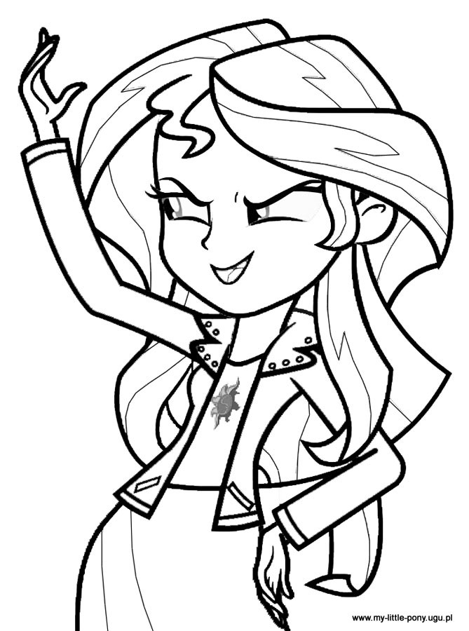 Equestria Girls Ausmalbilder  15 dessins de coloriage My Little Pony Humaine à imprimer