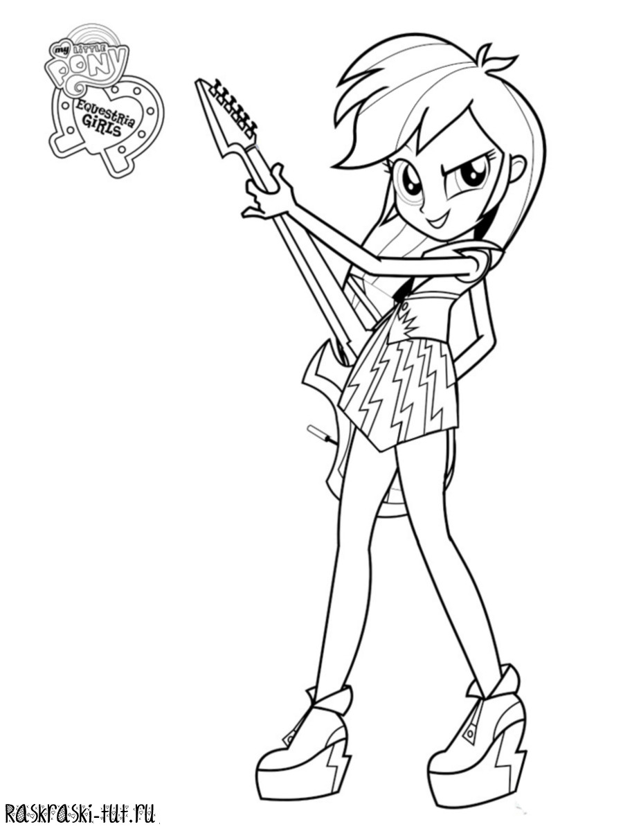 Equestria Girls Ausmalbilder  Rainbow Rocks Equestria Girls Coloring Pages Sketch