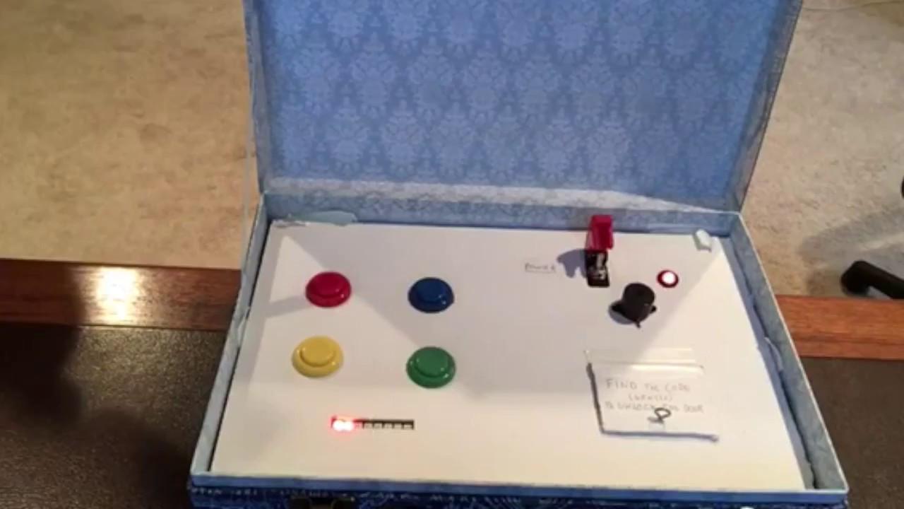 Escape Room Diy  DIY Escape Room Button Puzzle Box