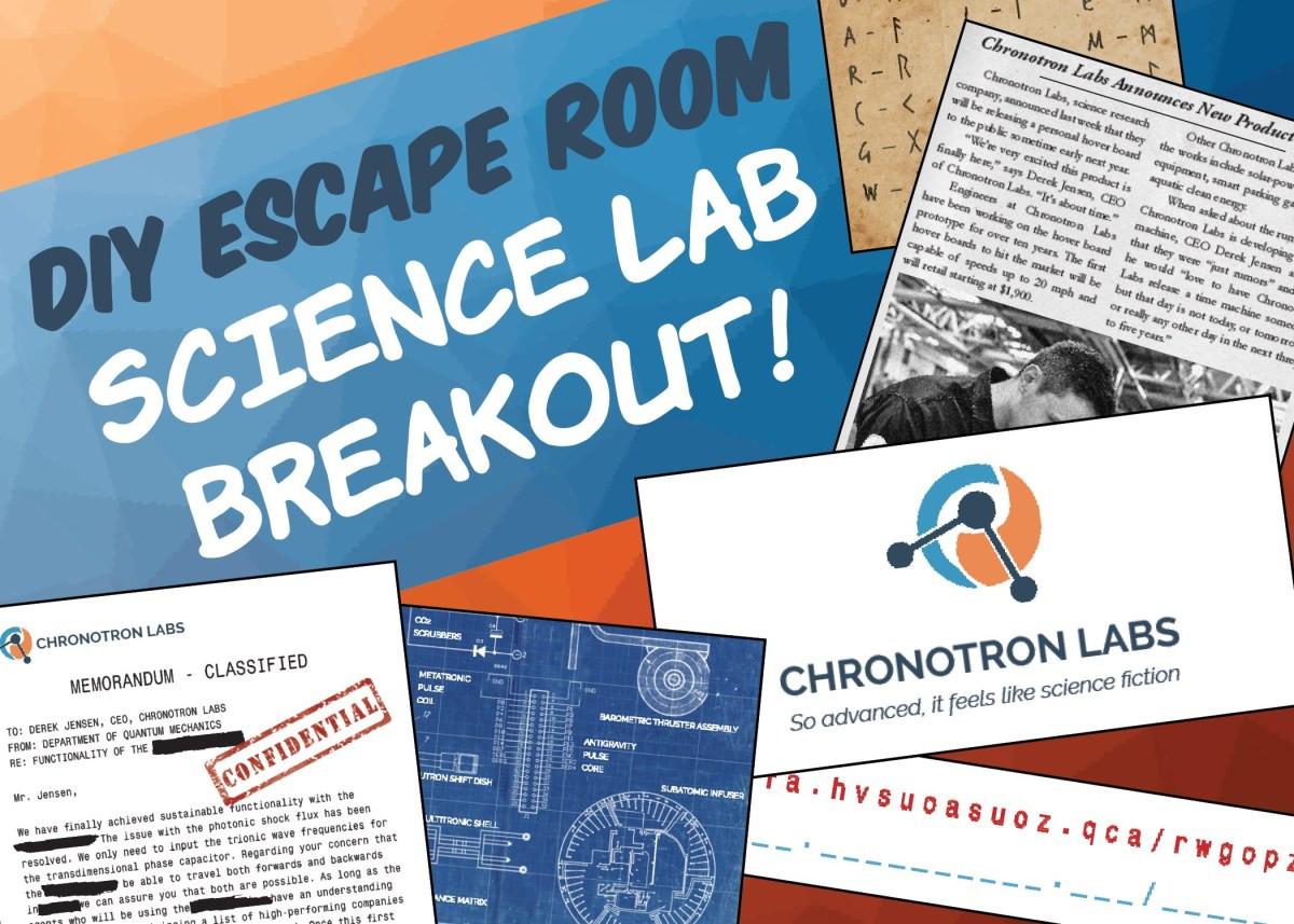 Escape Room Diy  DIY Escape Room Kit Science Lab Breakout The Game Gal