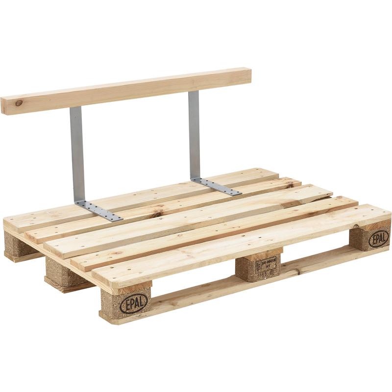 Europalette Diy  Dossier pour canapé d euro palette massif aspect du bois