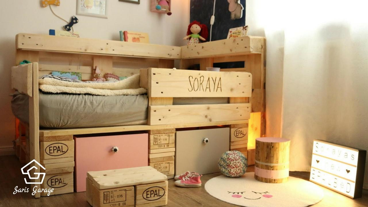 Europaletten Diy  Kinderbett aus Europaletten selber bauen HANDMADE Kultur