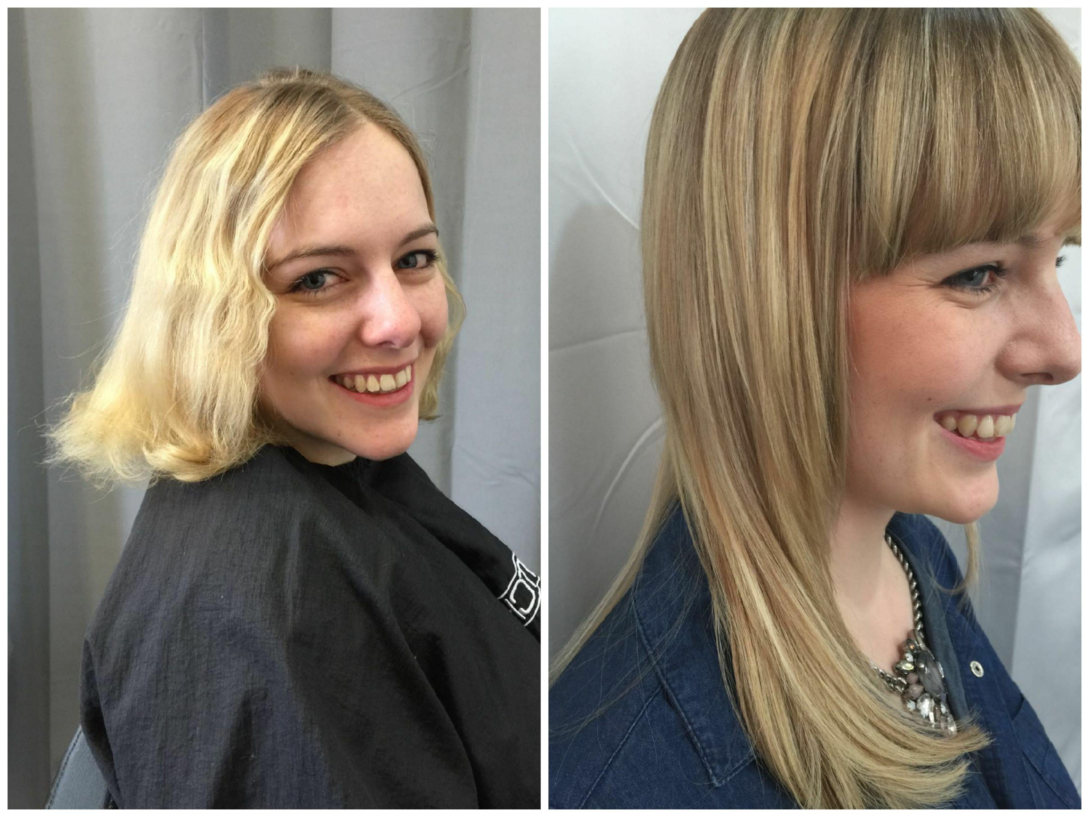 Extensions Frisuren  Vorher Nachher Blonde Extensions mit Hairtalk