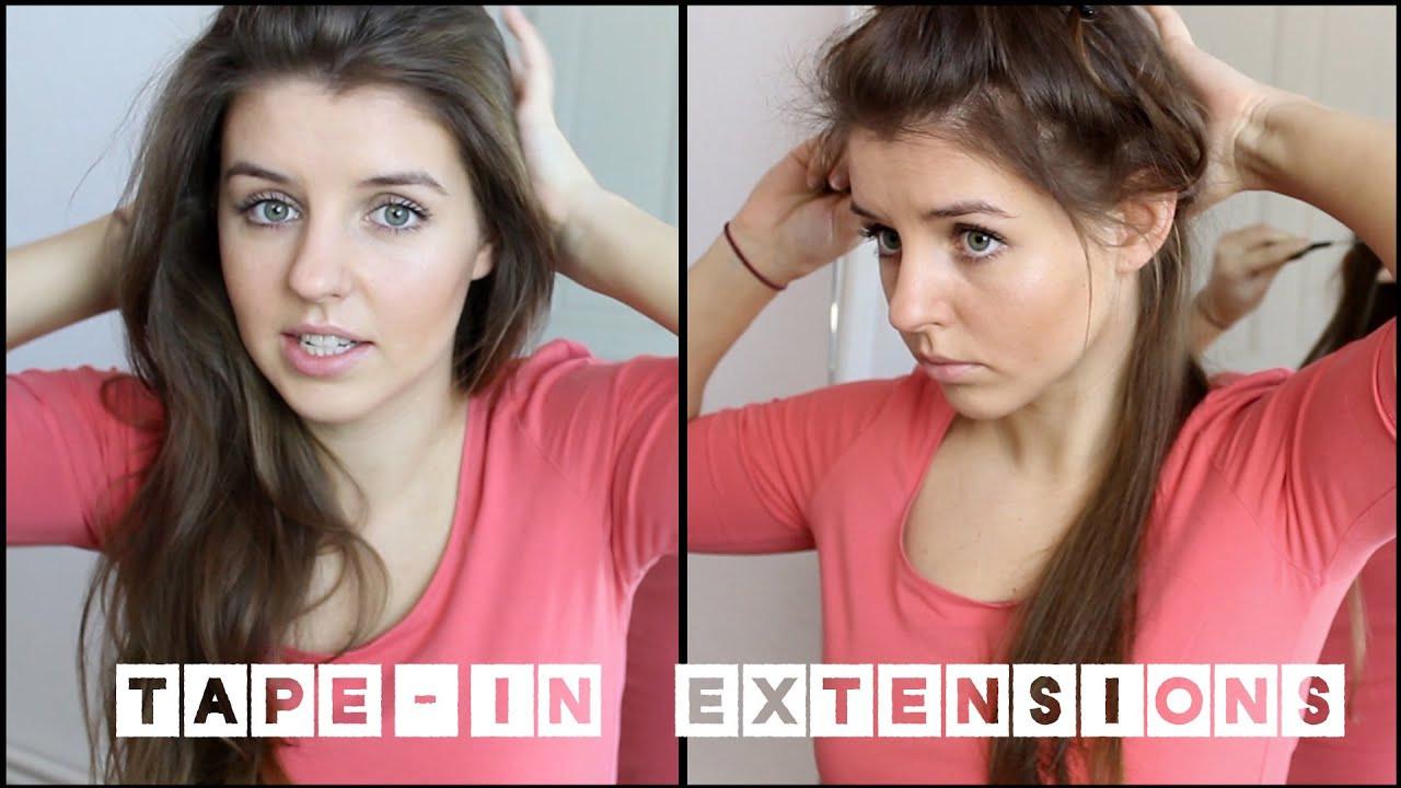 Extensions Frisuren  Tape Extensions Selbstversuch
