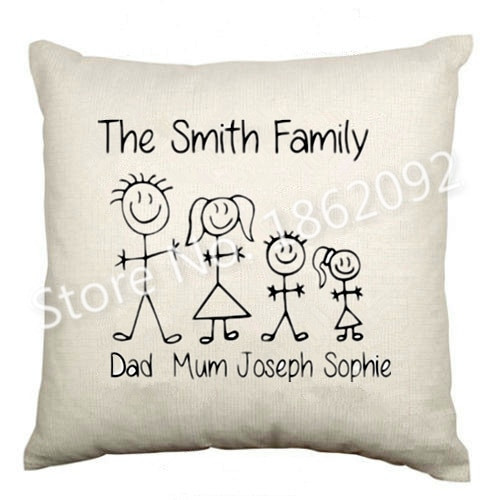 Familien Geschenke  Aliexpress Buy Funny Custom Name Family Cushion