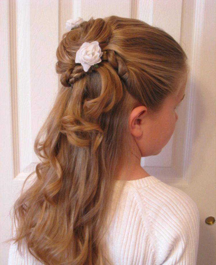 Festliche Frisuren Halblange Haare  Festliche Kinderfrisuren Festliche Frisuren Lange Haare fen