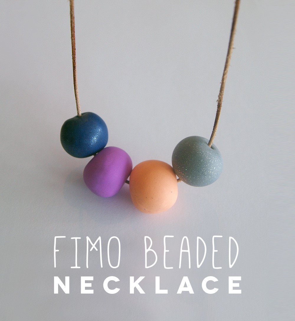 Fimo Diy  Fimo Beaded Necklace DIY The Makers Society