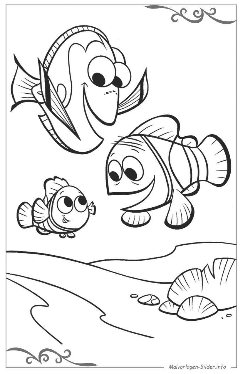 Findet Nemo Ausmalbilder  Findet Nemo ausmalbilder und malvorlagen für kinder zum