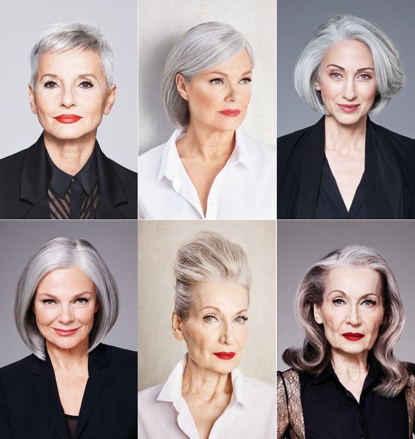 Flotte Frisuren Für Graue Haare  Beauty Statement Graue Haare zeigen