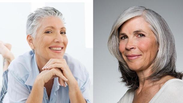 Flotte Frisuren Für Graue Haare  Graue Haare Die schönsten Frisuren richtige Pflege