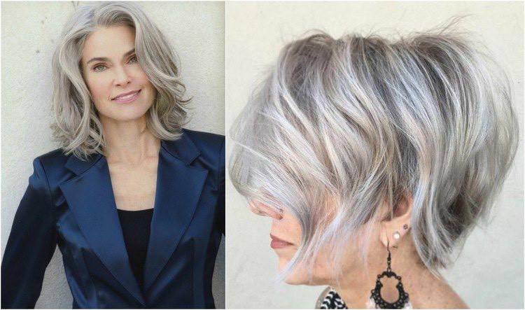 Flotte Frisuren Für Graue Haare  Moderne Frisuren für Frauen ab 50 Ideen für jede Haarlänge