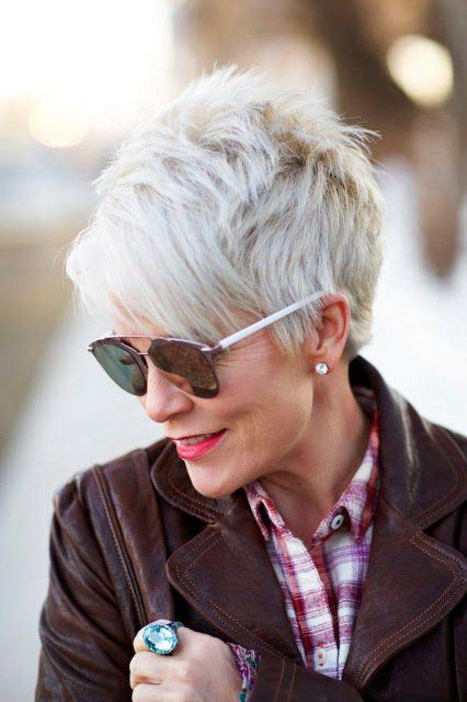 Flotte Frisuren Für Graue Haare  Grey is the new Black 30 Frisuren für graue Haare