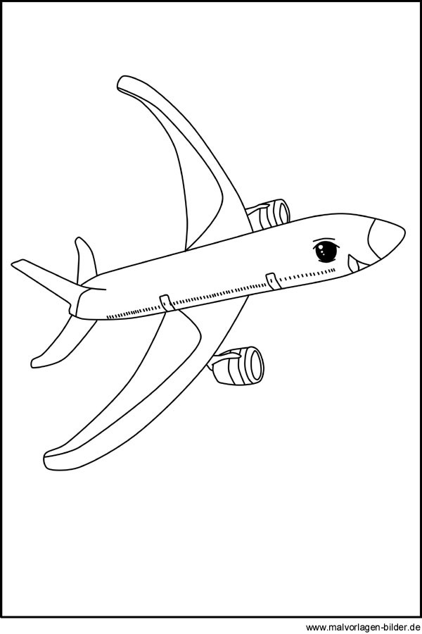 Flugzeug Ausmalbilder  Flugzeug Kostenlose Ausmalbilder zum Ausdrucken und Ausmalen