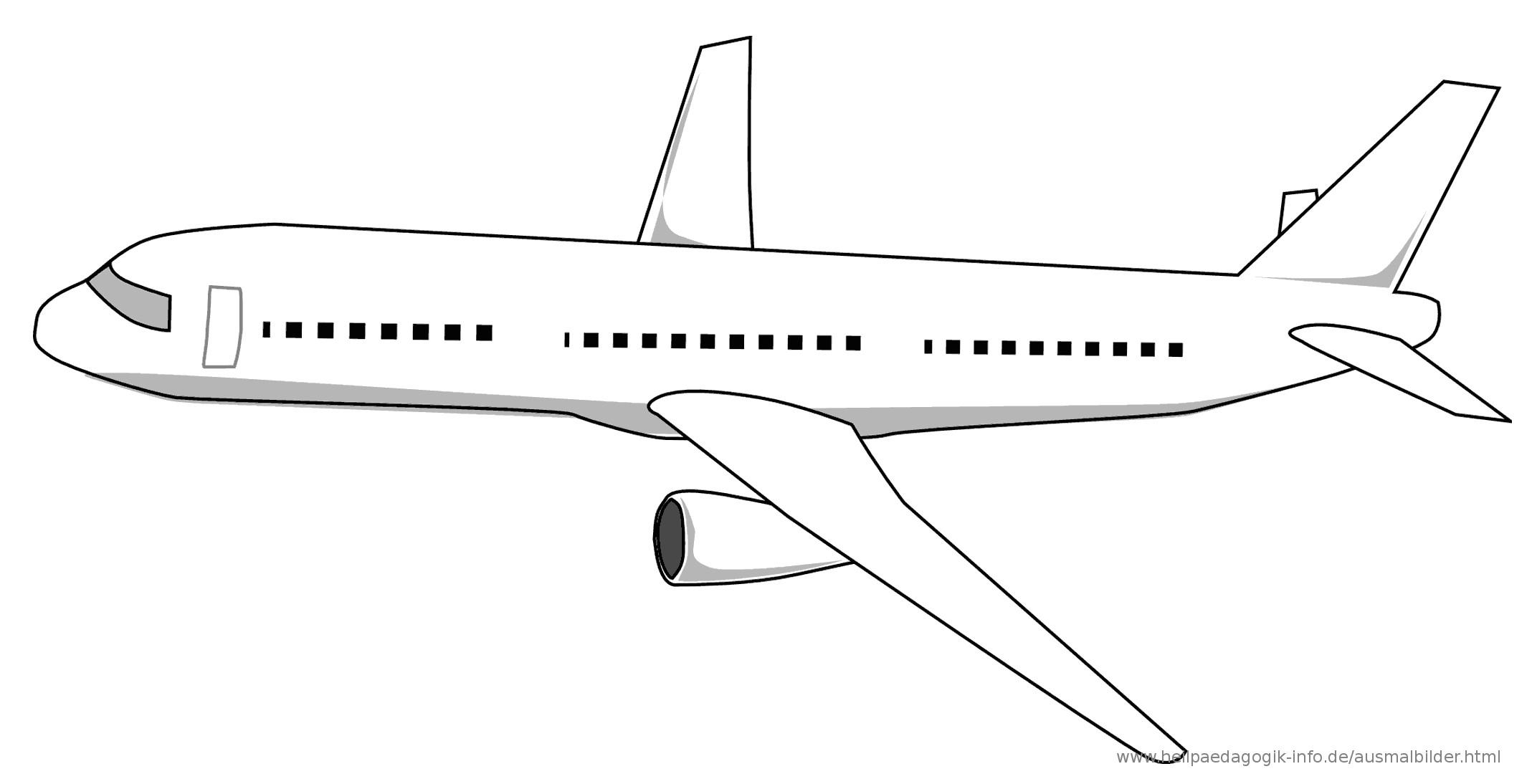 Flugzeug Ausmalbilder  Ausmalbilder Flugzeuge