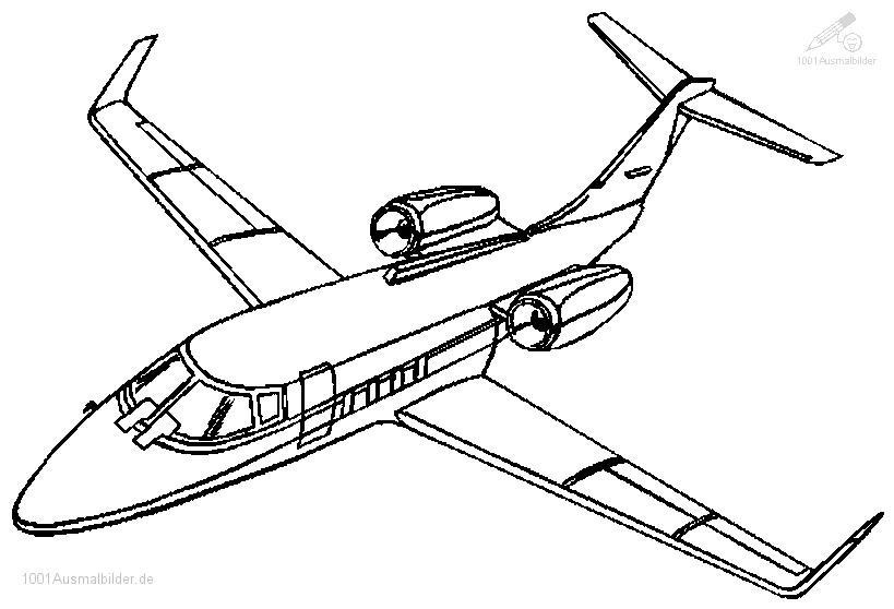 Flugzeug Ausmalbilder  Ausmalbild Flugzeug Boeing