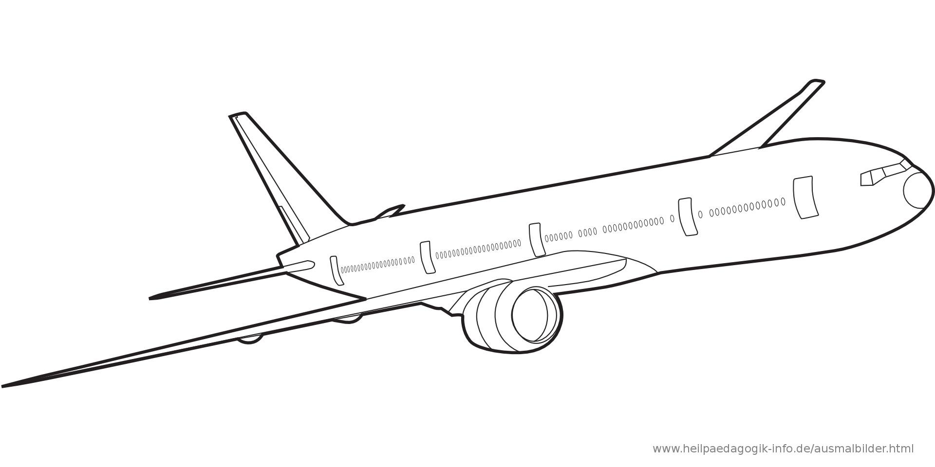Flugzeug Ausmalbilder  Ausmalbilder Flugzeuge Malvorlage Gratis