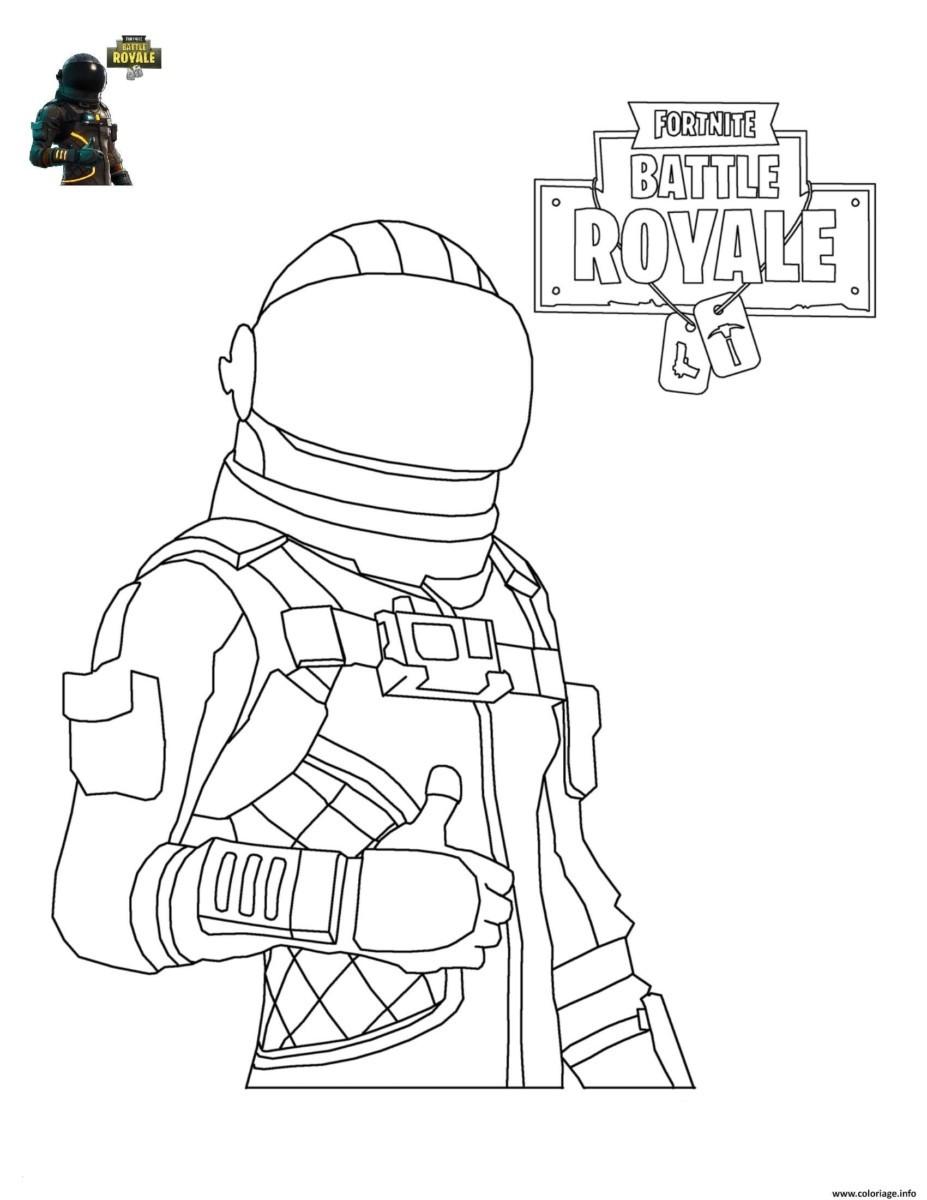 Fortnite Ausmalbilder Skins  Coloriage Fortnite Battle Royale personnage 4 imprimer