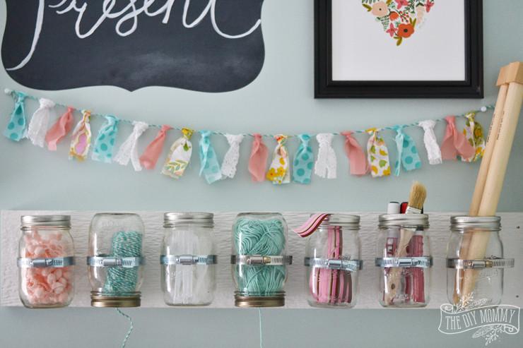 Foto Diy  Make Hanging Mason Jar Craft Storage 12MonthsofDIY