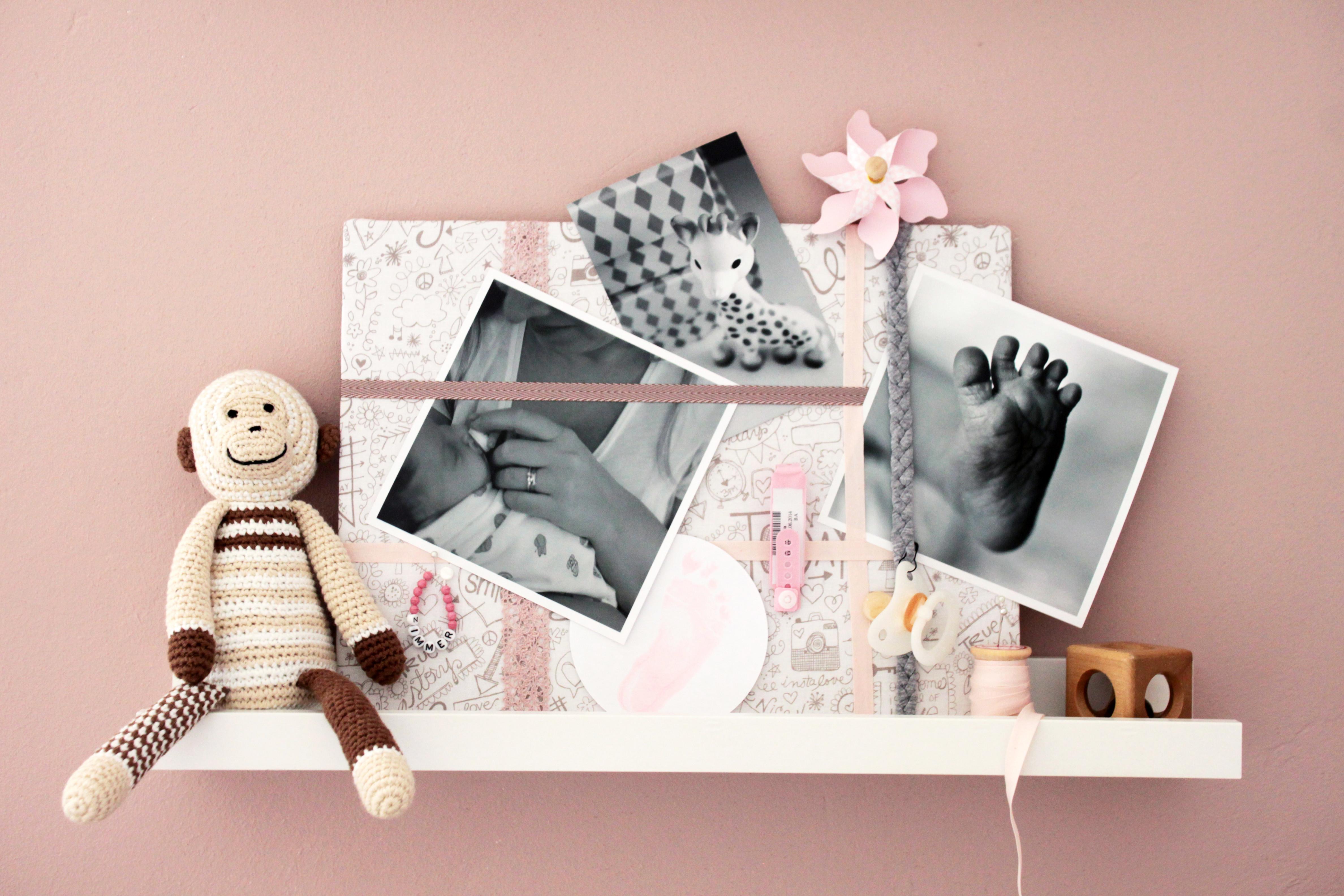 Foto Diy  DIY Foto Pinnwand zur Geburt