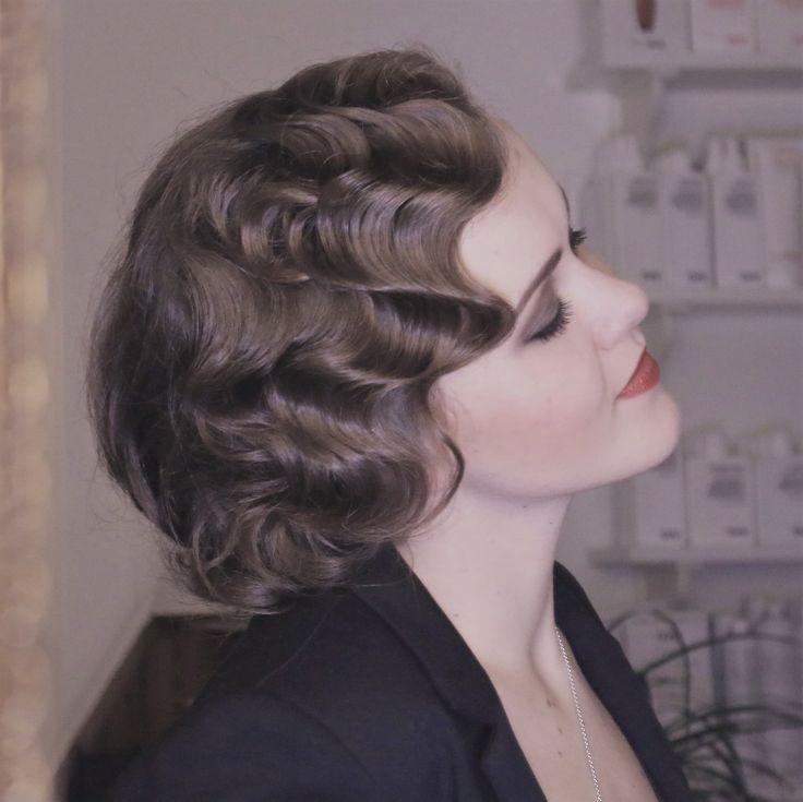 Frisuren 1920Er  Die besten 17 Ideen zu Wasserwelle auf Pinterest