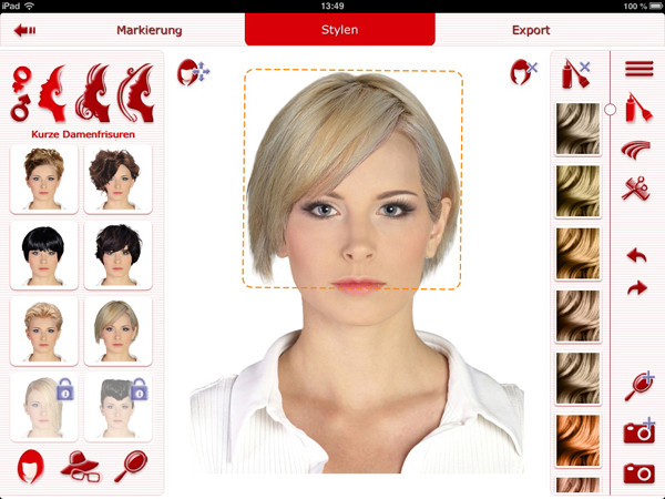 Frisuren Ausprobieren Online  Frisuren Testen App