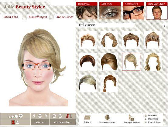 Frisuren Ausprobieren Online  beautystylerlie Traumfrisur und Make up online