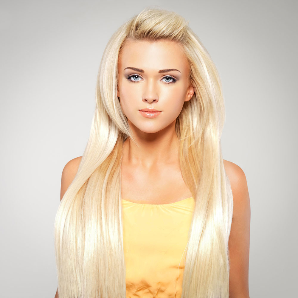 lange blonde haare glatt