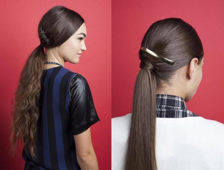 Frisuren Mit Haarspangen  2 Stilvolle DIY Frisuren mit Pferdeschwanz für jeden Tag