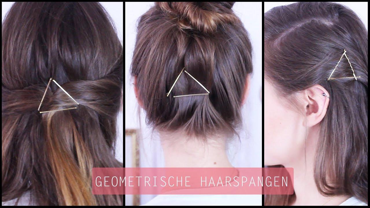 Frisuren Mit Haarspangen  Haarspangen Geometrie Haarschmuck