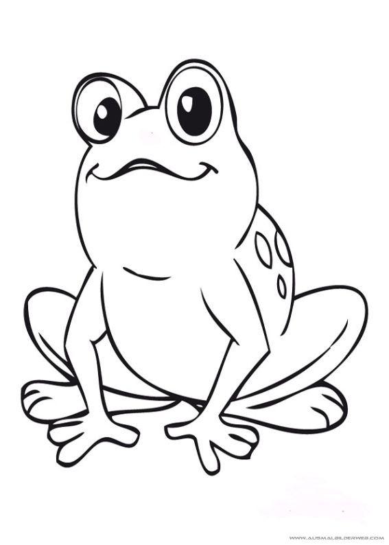 Frosch Ausmalbilder Zum Ausdrucken  Pin von Steff auf frosch