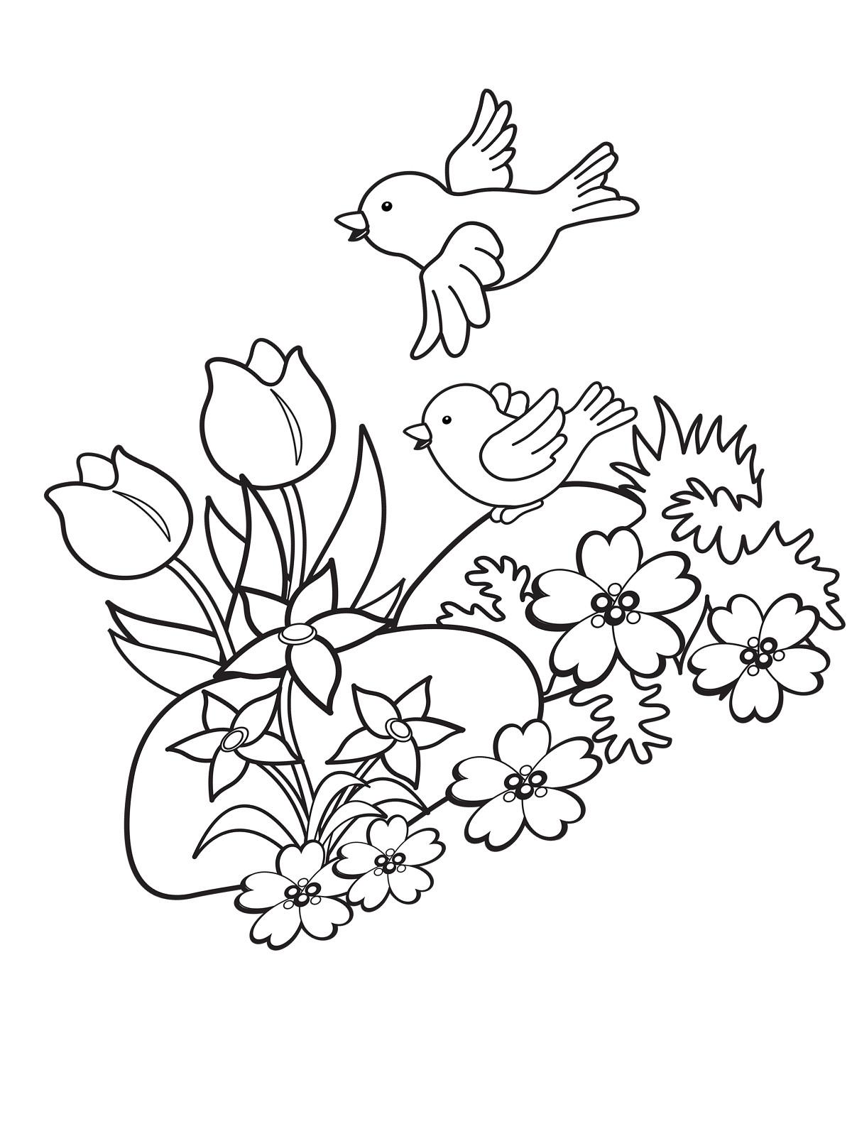 Frühling Malvorlagen  Ausmalbilder Malvorlagen von Frühling kostenlos zum