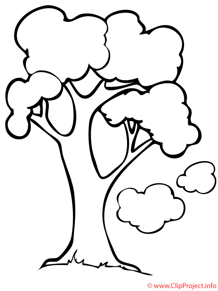 Frühling Malvorlagen  Frühling Malvorlage Baum