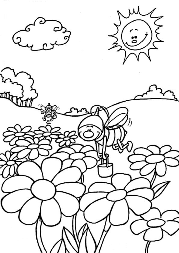 Frühling Malvorlagen  frühling 9