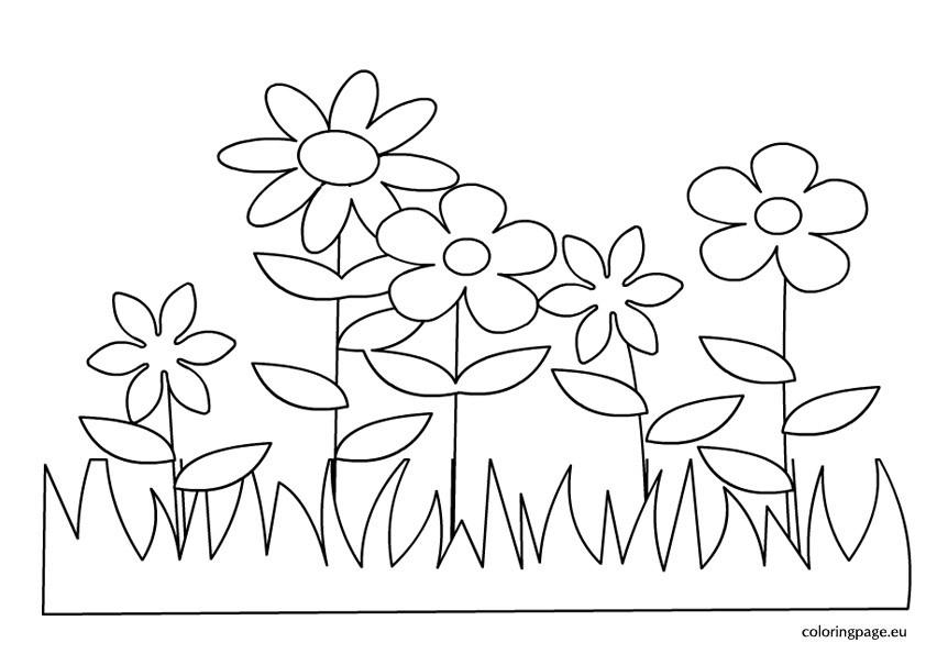Frühlingsblumen Ausmalbilder  Malvorlagen fur kinder Ausmalbilder Frühlingsblumen