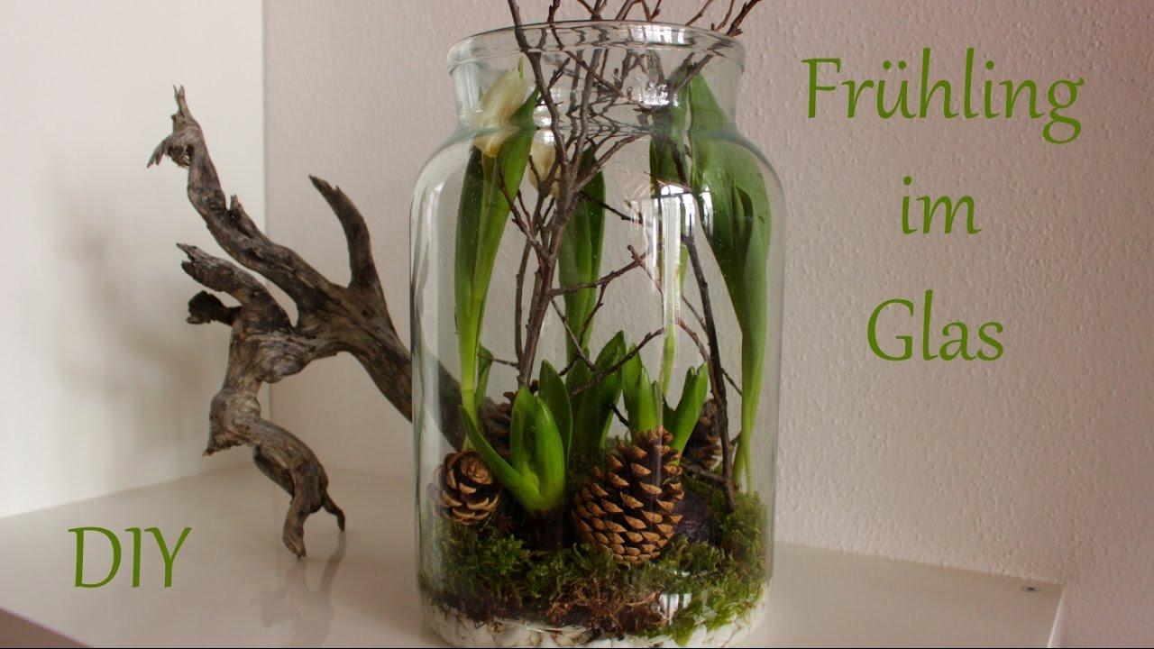 Frühlingsdeko Diy  DIY Frühling im Glas