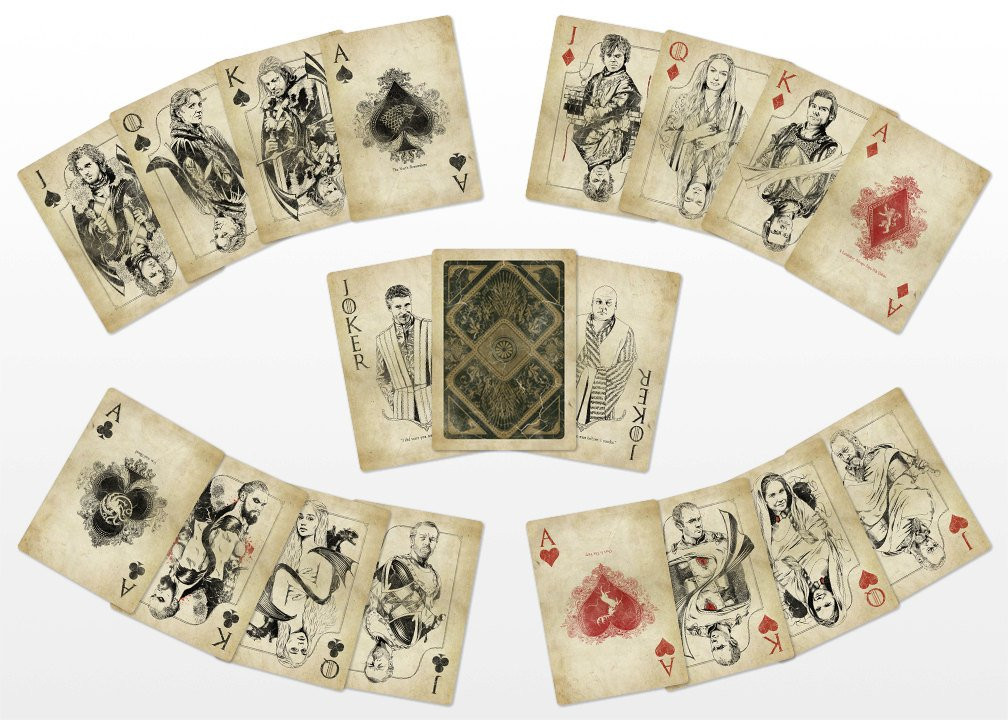 Game Of Thrones Geschenkideen  Game of Thrones Playing Cards Vintage