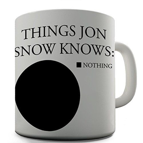 Game Of Thrones Geschenkideen  Jon Snow Tasse Kaffeetasse mit Game Thrones