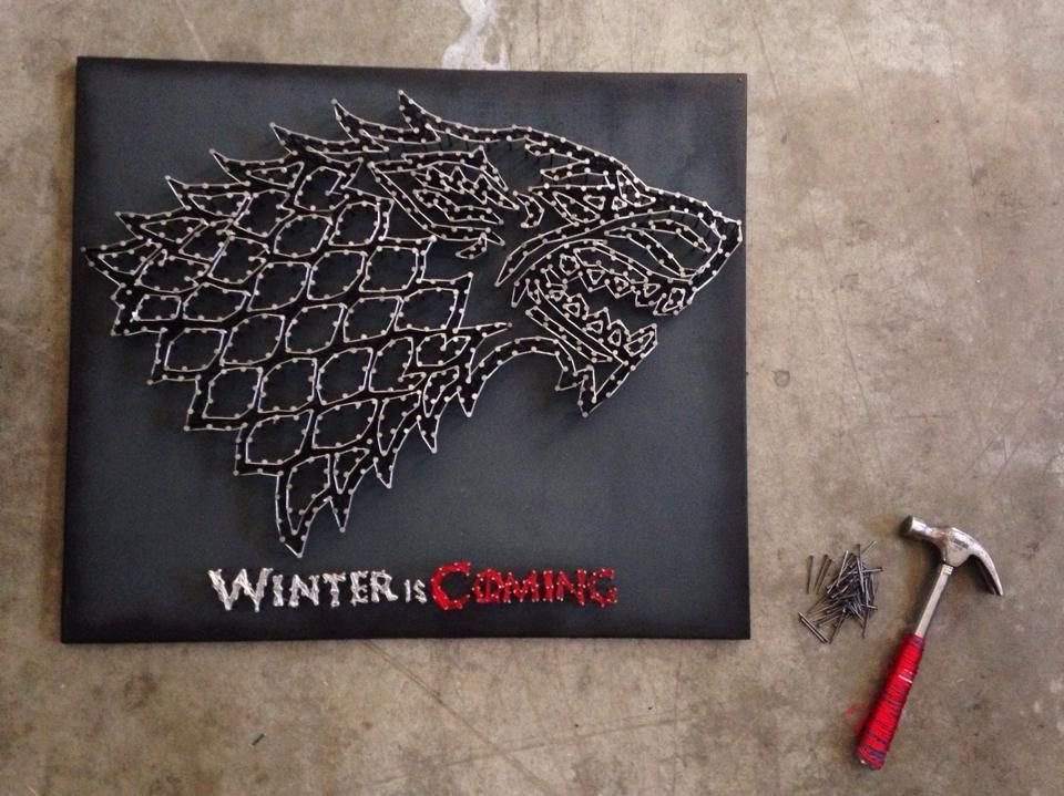 Game Of Thrones Geschenkideen  String art a incrvel técnica de desenhar linhas
