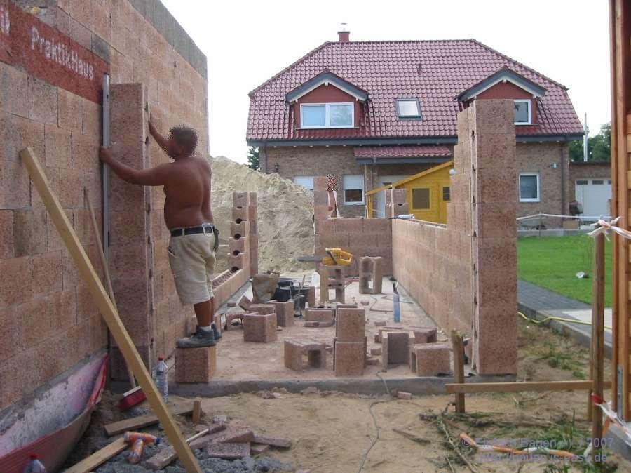 Garage Bauen  Eine Garage entsteht Einfach Bauen
